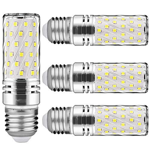 LED 15W Entspricht Glühbirnen 120W Nicht LED Mais Glühbirnen E27 dimmbar 6000K Kaltweiß 1500Lm Kleine Edison-Schraube Kerze Leuchtmittel Led Maiskolben (4er-Pack) … (Kaltweiß)