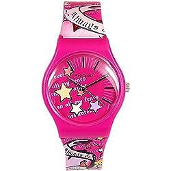 Pink Cookie Ladies-Girls Analogue Pink Motiff Design PU Strap Watch PCL-0019