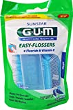 GUM Filo Interdentale Easy Flossers Forcella Monouso, 12 confezioni con 30 pezzi ciascuna