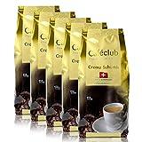 5x Cafeclub Supercreme Schweizer Schümli Kaffeebohnen 1 Kg Für Kaffeevollautomaten