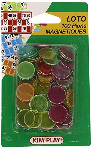 KimPlay-Juego-de-100-fichas-magnticas-para-lotera-Importado-de-Francia