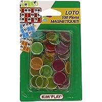 Kim'Play Juego de 100 fichas magnéticas para lotería [Importado de Francia]
