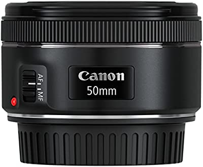 Canon 0570C005AA - Objetivo para cámara réflex (EF 50 mm, F/1.8 STM), color negro