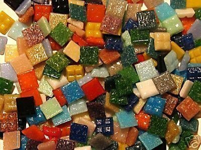 Mosaic Tile Mix. 200 Pack Mixed 10mm vitreous
