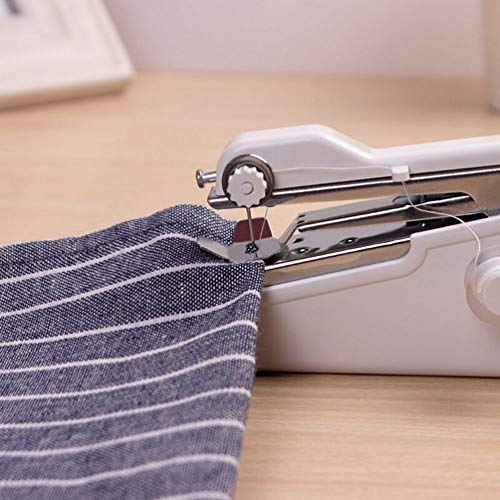 TTMOW Mini Machine à Coudre Portable, Main Couture Portative, Outil de Point Rapide Manuelle, AA Alimenté par Batterie pour Vêtement, Rideau, DIY