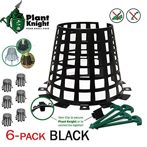 Plant Knight Pflanzen- und Baumschutz und Schutz für Bäume, Bäumchen - erweiterbar (Schwarz-6)