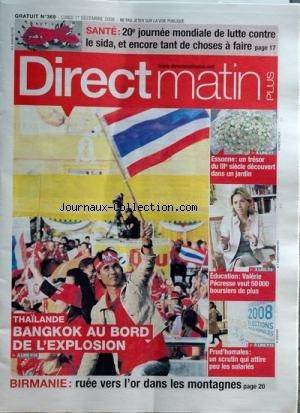 DIRECT MATIN PLUS [No 369] du 01/12/2008