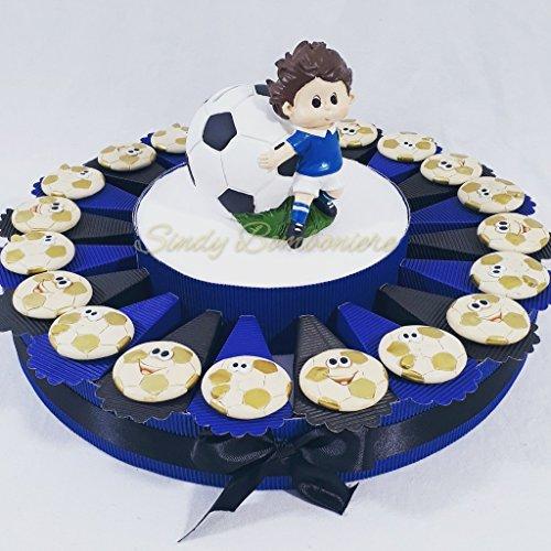 Torta bomboniere pallone magnete calcio squadra del cuore nascita, battesimo, comunione, cresima, compleanno (torta da 20 fetti)