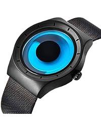 Relojes de los Hombres, Reloj de Pulsera Fresca Impermeable de diseño único de Hombres,