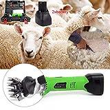 LIJUEZL Cesoie per Pecore, tagliaerba Elettrico a Batteria 12V, con Lama da 9 Denti, Lana di Pecora elettrica da 200 W per Bestiame Domestico