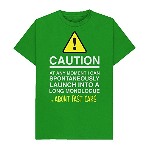 Caution - at Any Moment I Can Monologue About. Fast Cars - Hobbies - Tshirt - Shaw T-Shirts® - Sizes Small to 2XL