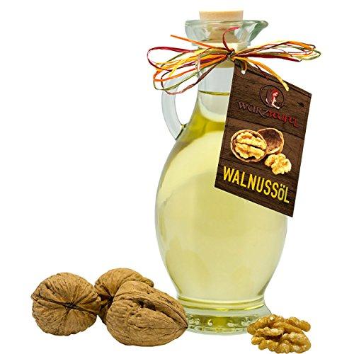Walnussöl, Walnuss - Öl. Naturreines kaltgepresstes Walnussöl aus USA, Kalifornien in Premiumqualität AMPHORE IRGIZIA - Flasche 250ml.