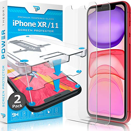 Power Theory Panzerglas kompatibel mit iPhone 11/iPhone XR [2 Stück] - Schutzfolie mit Sc