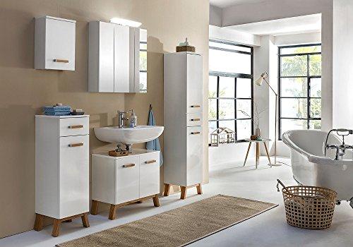 Waschbeckenunterschrank Malmö, Schildmeyer, weiß (65 cm breit) - 4