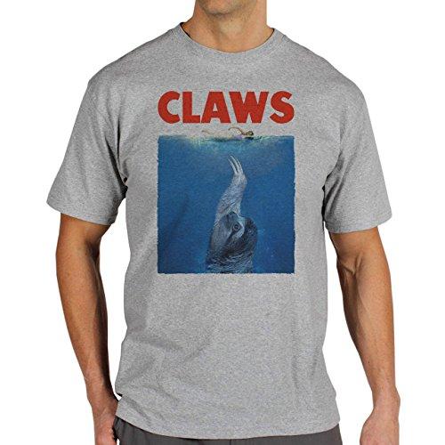 Claws Sloth Edition For Jaws Quality Herren T-Shirt Grau