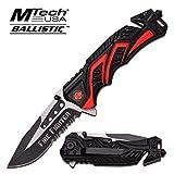 MTech USA Erwachsene MT-A865FD Taschenmesser, Mehrfarbig, M