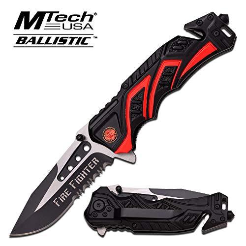 MTech USA Erwachsene MT-A865FD Taschenmesser, Mehrfarbig, M - Firefighter Taschenmesser
