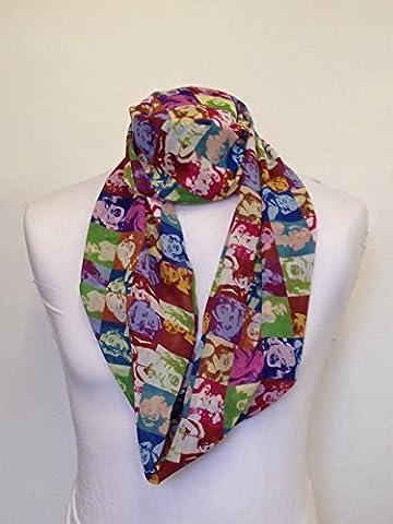 Marilyn Monroe couleur design Infinity Écharpe en mousseline de soie et Jersey imprimé Unisexe mode foulards PaSSANT