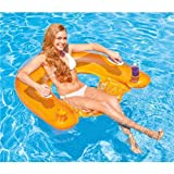 Intex 58859EU - Aufblasbarer Schwimmsessel, Sit N Float, 60 x 39 Zoll, farblich...