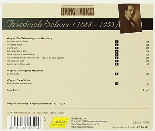 Friedrich Schorr Sings Richard Wagner