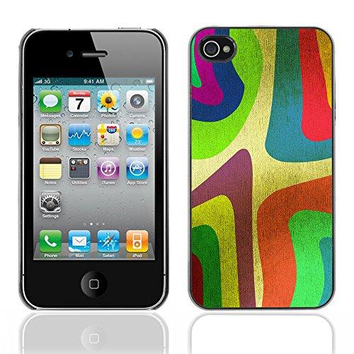 Graphic4You Curves On Canvas Digital Art Muster Design Harte Hülle Case Tasche Schutzhülle für Apple iPhone 4 und 4S Design #20