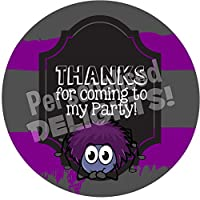 Creepy Crawlies Spider Sticker Labels (24 Stickers, 4.5cm Each) NON PERSONALISED Seals Ideal for Party Bags, Sweet Cones, Favours, Jars, Presentations Gift Boxes, Bottles, Crafts