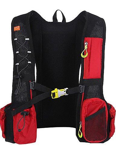 HWB/ 10 L Rucksack Camping & Wandern Draußen Kompakt Rot / Schwarz / Blau 210D - Nylon / Terylen Red