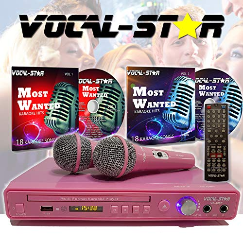 Vocal-Star VS-400 CDG DVD Karaoke-Maschine mit 2 Mikrofonen und Partyliedern