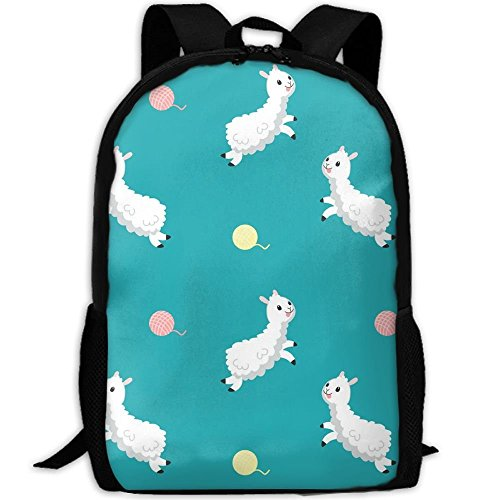 HOJJP Schultasche Cute Alpaca with Wool Ball School Bookbags for Teens, Backpack College Bags Young People Daypack (Teen Cute Young)