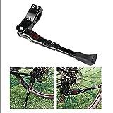 JZK® Universal Verstellbarer MTB Mountainbike Fahrrad Ständer Kickstand Fahrradständer mit Gummi fuß (Schwarz)