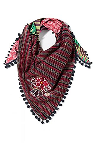 Desigual Foulard Triangle Cleo Ruby Wine