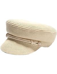 fangkuai-hat Cappello Militare di Paglia Tinta Unita Primavera Estate  Autunno per Ragazze Ragazzi Traspirante 48f4c51c9de7