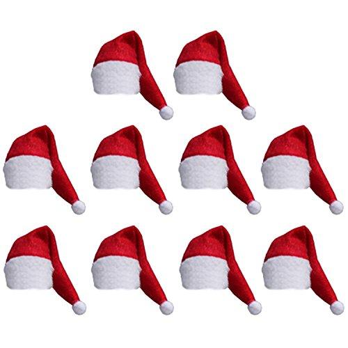 10 pz Cappello Copertina Natale Decorazione di Natale Natale Partito Bottiglia del Vino Rosso Wrap
