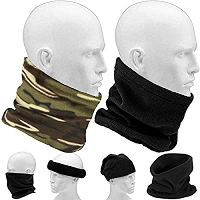 UNISEX MENS LADIES SUPER SOFT NECK WARMER GAITER HAT FOR SKI, HIKING : everything five pounds (or less!)