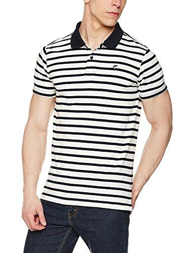 Ruggers Men's T-Shirt (8907542246434_400016106138_Medium_White and Navy)