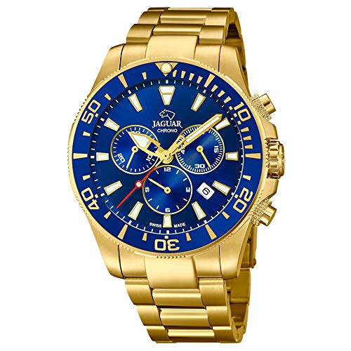 Jaguar Acamar Executive watch J864/2 Golden steel Blue dial