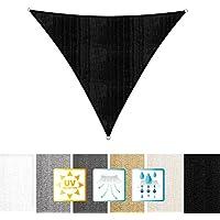 Lumaland toldo vela de sombra 100% polietileno de alta densidad filtro UV incl cuerdas nylon 5x5x5 negro