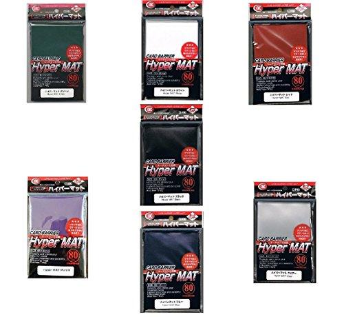 all-colors-set-7x-560ct-packs-kmc-hyper-matte-redbluepurplegreenclearblackwhite-sleeves-fits-standar
