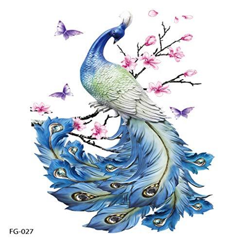 Fannty Persönlichkeit Flash Tatoo Butterfly Peacock Tattoo Tätowierung Aufkleber -