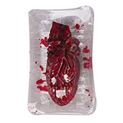 Idea Regalo - Bornbayb Tritato a mano Dito spezzato Parte del corpo umano del cuore della scatola del pranzo Halloween Prop Halloween Party o dolcetto