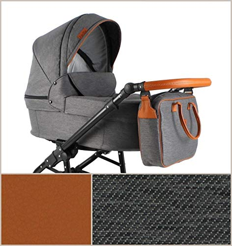 Lux4Kids Pram Stroller 3in1 2in1 Isofix Colour Selection Buggy Car seat for Grey For-05 4in1 car seat +Isofix Lux4Kids Lux4Kids For 3in1 or 2in1 pushchair. You have the choice whether you need a car seat (baby seat certified according to ECE R 44/04 or not). Of course the car is robust, safe and durable Certificate EN 1888:2004, you can also choose our For with Isofix. The baby bath has not only ventilation windows for the summer but also a weather footmuff and a lockable rocker function. The push handle adapts to your size and not vice versa, the entire frame is made of a special aluminium alloy with a patented folding mechanism. 1