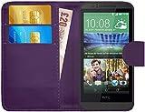 G-Shield Hülle für HTC Desire 510 Klapphülle mit Kartenfach - Lila