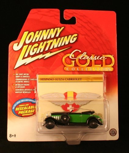 hispano-suiza-cabriolet-green-johnny-lightning-2004-classic-gold-collection-164-scale-die-cast-vehic