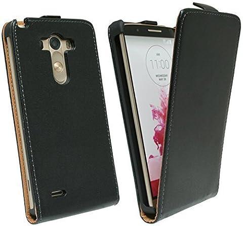 Klapptasche Schutztasche für LG G3 D855 in Schwarz Tasche Hülle @ Energmix