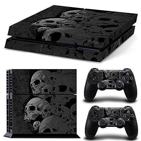 DOTBUY PS4 Vinyl Decal Autocollant Skin Sticker pour Playstation 4 console + 2 Dualshock Manette Set (Skulls)