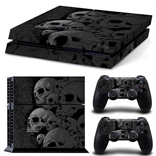 dotbuy PS4Skin autocollant Stickers Design Film Seconde Peau Coque pour console Sony Playstation 4et 2manettes DualShock Skulls