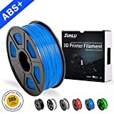 SUNLU ABS Plus 3D Printer Filament, ABS Filament 1.75 mm, 3D Printing filament Low Odor Dimensional Accuracy +/- 0.02 mm, 2.2 LBS (1KG) Spool,Blue ABS+