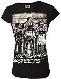 The Usual Suspects Horror Movie Genuine Darkside Womens T Shirt Inspired By Freddy Jason and Leatherface