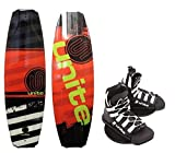 Base Sports Manuel 135 Wakeboard Package Unite Wakeboardbindung red