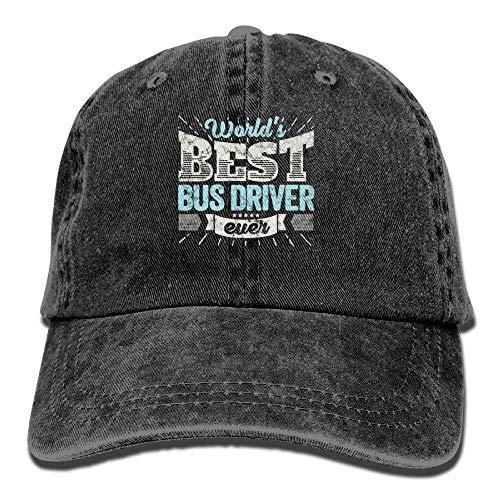 lears Weltbester Busfahrer überhaupt Lustiges Geschenk-Denim-Hut-justierbare Unisexbaseballmütze